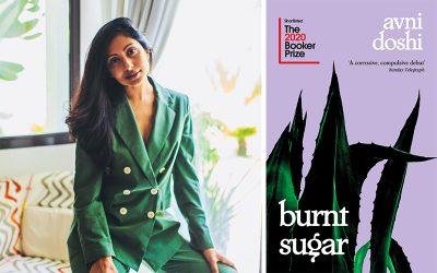 Photo of Avni Doshi and her debut novel Burnt Sugar