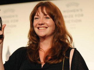 LONDON, ENGLAND - JUNE 04: Eimear McBride - author of 'A Girl Is A Half-Formed Thing' celebrates winning the 2014 Baileys Women's Prize for Fiction, announed tonight at an awards ceremony at The Royal Festival Hall on June 4, 2014 in London, England. (Photo by Stuart C. Wilson/Getty Images for Baileys/Diageo) *** Local Caption *** Eimear McBride