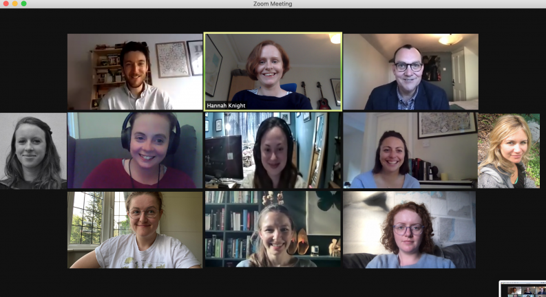 Photo of the reading group Reading Women on Zoom