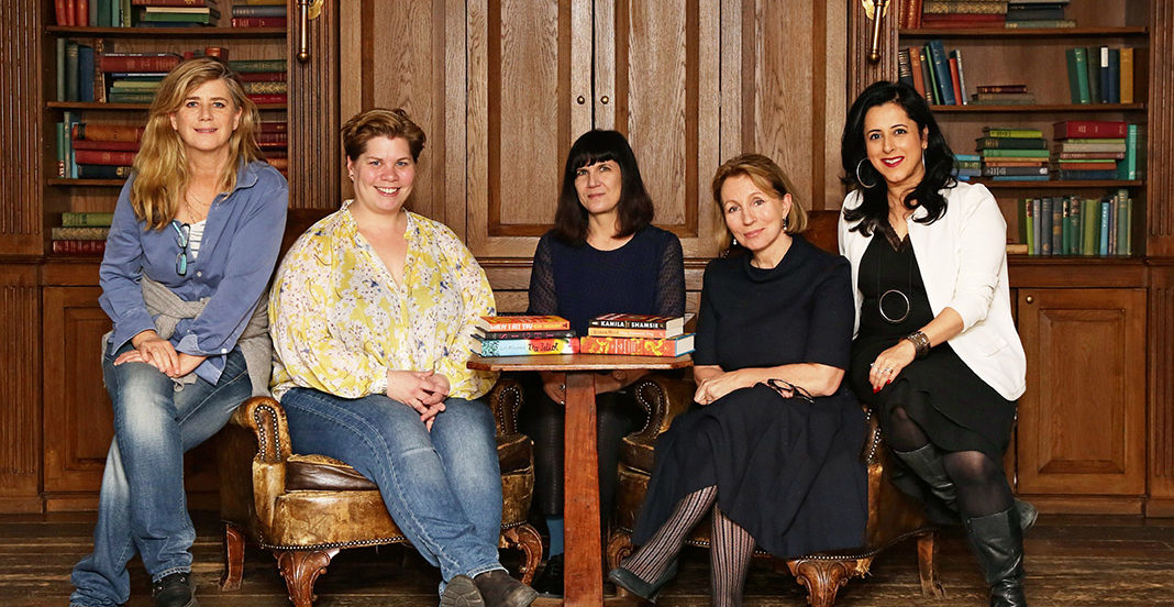 Photo of 2018 Women's Prize judging panel with the shortlist