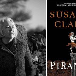 Photo of author Susanna Clarke and her novel Piranesi
