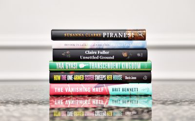 Photo of the Women's Prize Shortlisted books for a virtual literary event