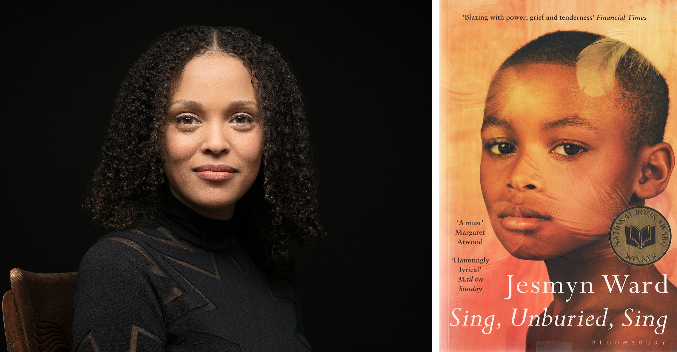 Photo of Jesymn Ward and her novel Sing Unburied Sing shortlisted Women's Prize 2018