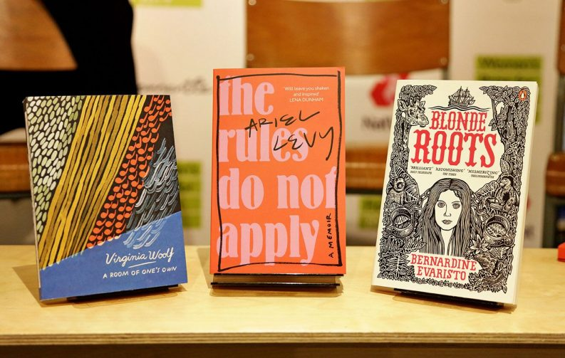 Photo of books featured on the Women's Prize Podcast episode